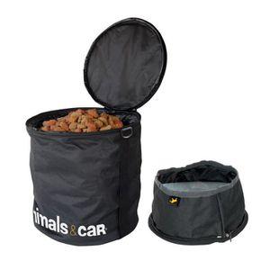 ANIMALS&CAR Kit pliable sac ? croquettes 5kg + écuelle