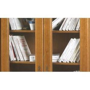 Finition ch/êne WATSONS Collectors Vitrine 6 /étag/ères en Verre