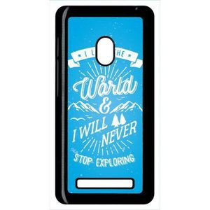 COQUE - BUMPER Coque asus zenfone 5 i love the world and i will n