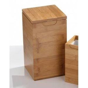 BOITE DE RANGEMENT Square Grande Boîte Bambou Couvercle Pour Stockage
