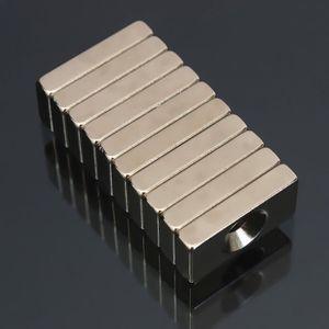 AIMANT 10pcs N50 Puissant Aimants Neodyme 20x10x4mm Trou