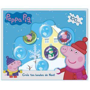 Support à décorer PEPPA PIG Crée tes Boules de Noël - Kit de Loisirs