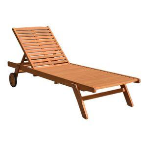 Bain de soleil bois achat vente bain de soleil bois for Chaises longues en bois