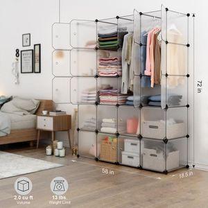 ARMOIRE DE CHAMBRE LANGRIA 20-Cube Armoire de Chambre en Plastique Ét
