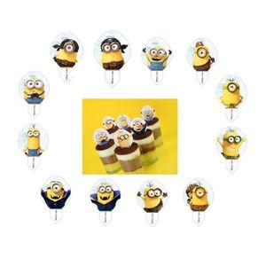 DÉCORATION PÂTISSERIE Lot 24 Pic Azyme Minion Minions MOD Cupcake Gateau 6b449676d434