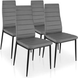 CHAISE Lot de 4 chaises Stratus Gris