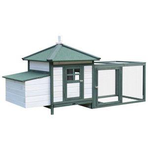 POULAILLER Poulailler cottage multi-équipement perchoir rampe