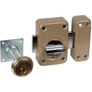 SERRURE - BARILLET Verrou V136 système V5 à bouton et cylindre extens