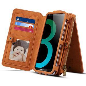 COQUE - HOUSSE - ÉTUI Housse Étui brun pour Samsung Galaxy S9 + et A8 +