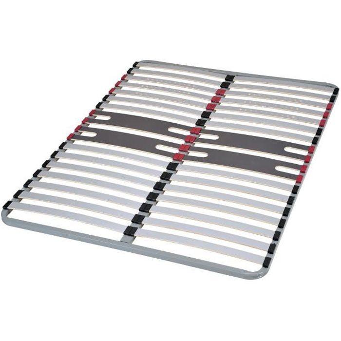 SEDAC Sommier OPTIZONE 140 x 190 - Cadre à lattes - 5 zones de confort