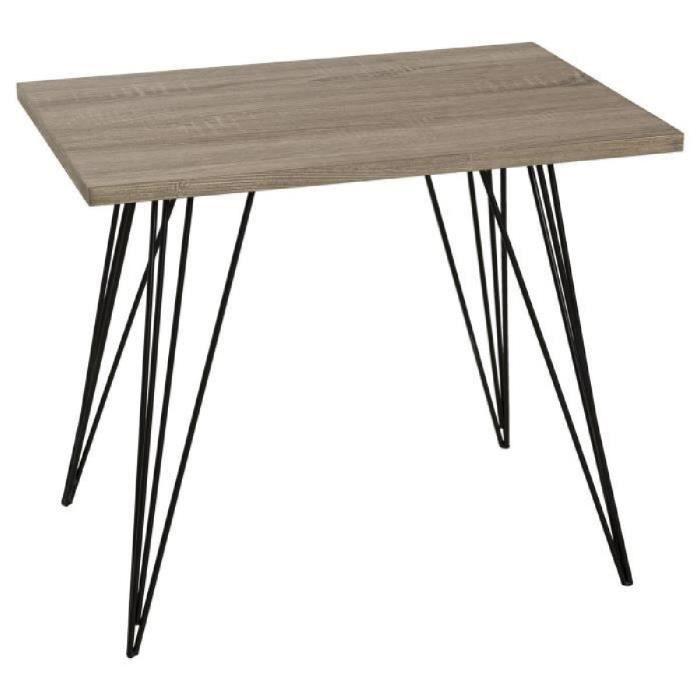 Table Basse Salon Bois Et Metal Achat Vente Pas Cher