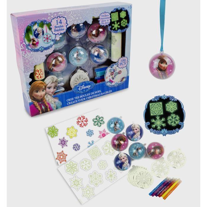 LA REINE DES NEIGES Crée tes Boules de Noël - Kit de Loisirs Créatifs