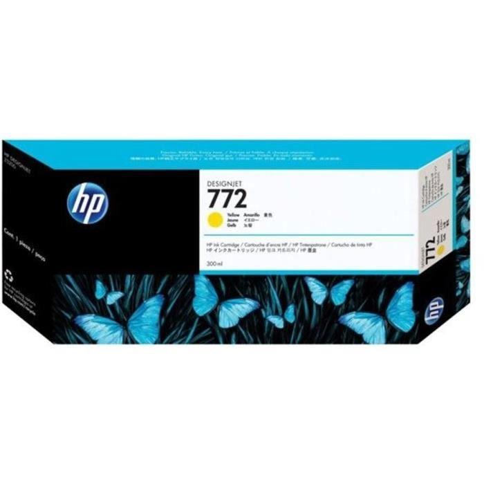 HP Cartouche d'encre 772 - Pack de 1 - Jaune