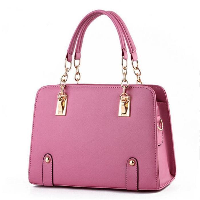 Sac à main cuir sac femme de marque sac bandouliere sac cuir femme sac de luxe Sacoche Femme Sac à main femme sac à main rose