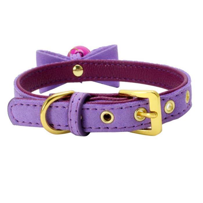 Cuir Réglable Avec Bell Pet Puppy Collier Pour Chien Ycc70711555pkxxs_109