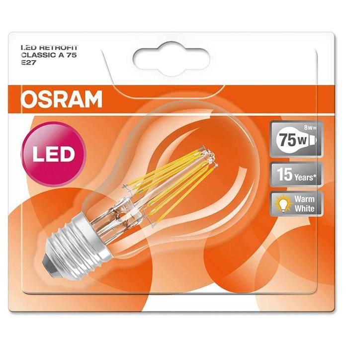 AMPOULE - LED Osram ampoule LED Superstar Classic E27 8,5W (75W)