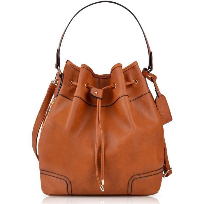 Coofit sac à main sac à main seau sac en cuir original sac à bandoulière sac à main EVKLN