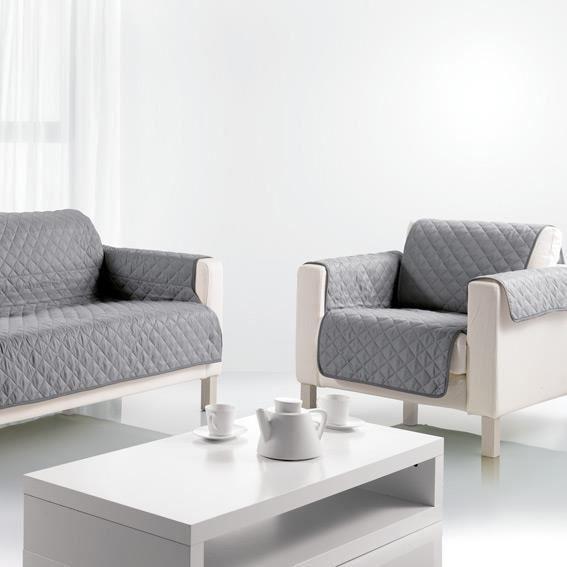 prot ge canap 3 places gris les ateliers du linge achat vente housse de canape soldes. Black Bedroom Furniture Sets. Home Design Ideas