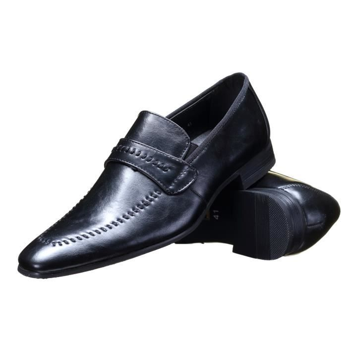 Chaussure Reservoir Shoes Anibal Mocassin Noir ...
