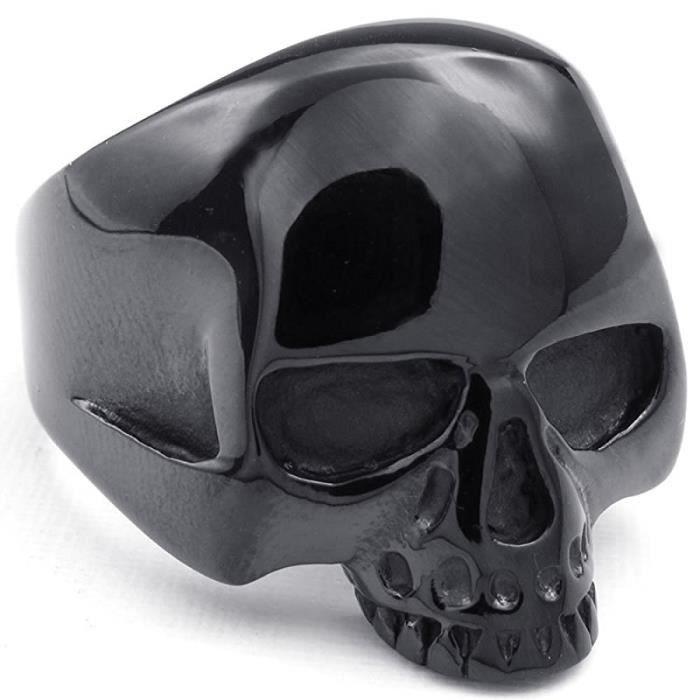 Bijoux Bague Homme - Gothique Étranger Tête de mort - Acier Inoxydable - Anneaux - Fantaisie - pour Homme - Couleur Noir