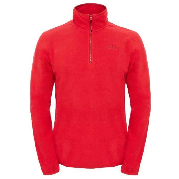 meilleure sélection 3a1e3 a1e84 Vêtements homme Vestes polaires The North Face 100 Glacier 1/4 Zip