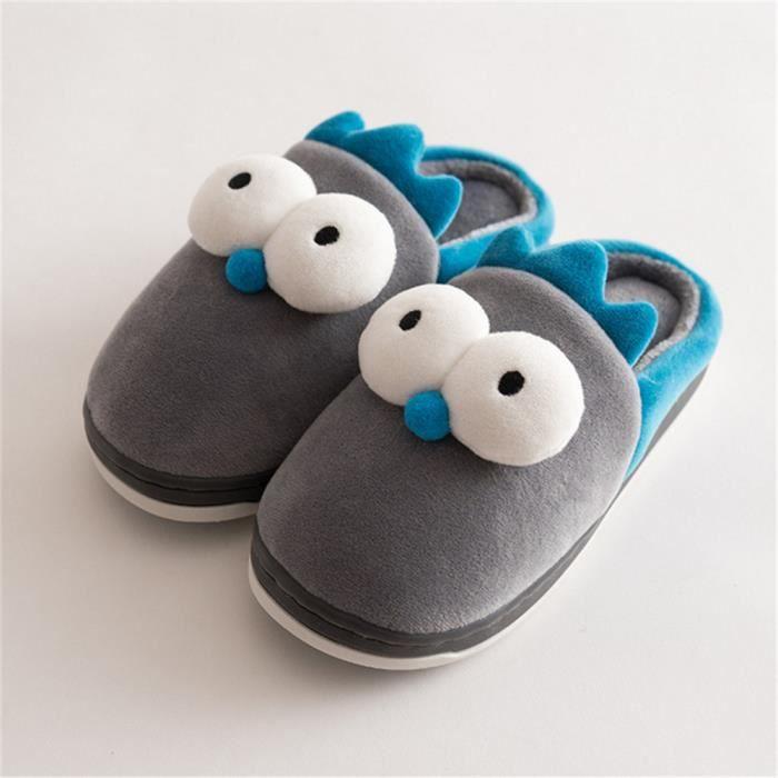 Chaussons Enfants De grands yeux Peluche de bande Chausson Meilleure Qualité Nouvelle Mode Chaussure Taille 14-22 5qY15