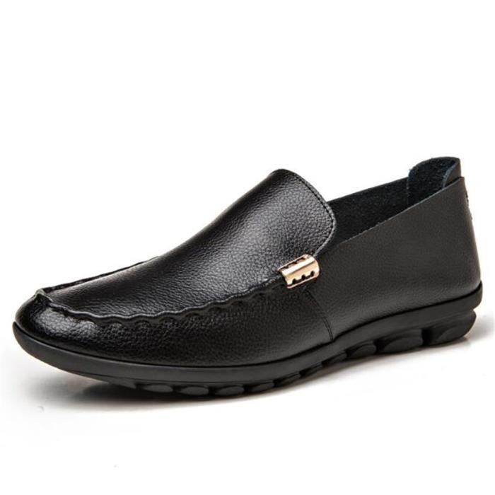 Mocassin Hommes Ete Comfortable Mode Detente Chaussures FXG-XZ75Noir40 sqTOud3