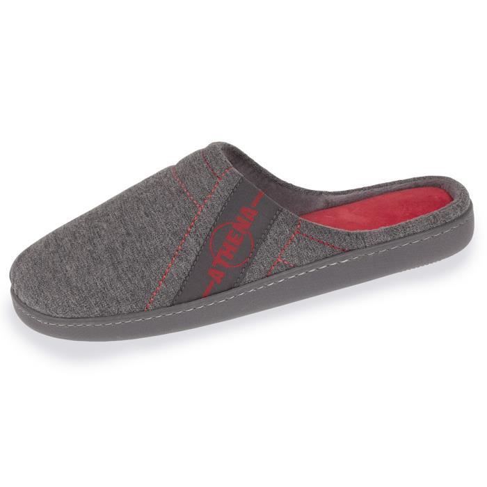 MULE Chaussons mules homme Athena bicolores - Gris - 92