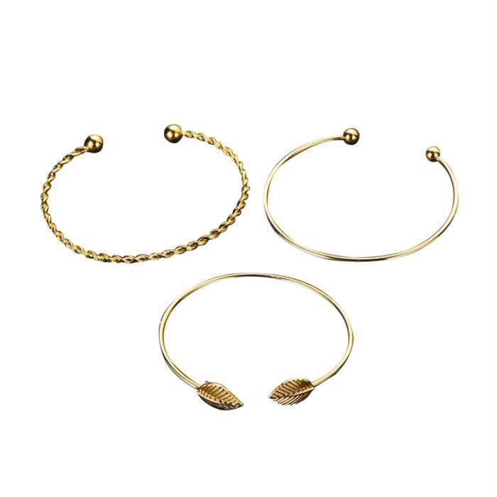 TATOO - BIJOU DE CORPS 3 pièces Bracelet de feuilles Bracelet à poignets