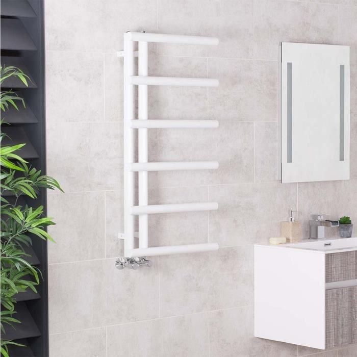 Sèche-Serviettes Eau Chaude 309W - 988 X 500Mm - Design - Blanc