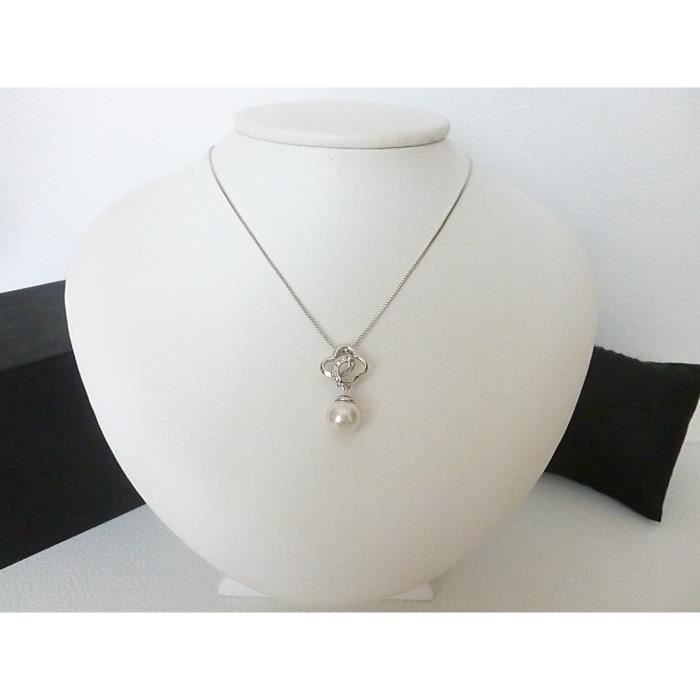 Collier Femme Perle Blanche Neuf