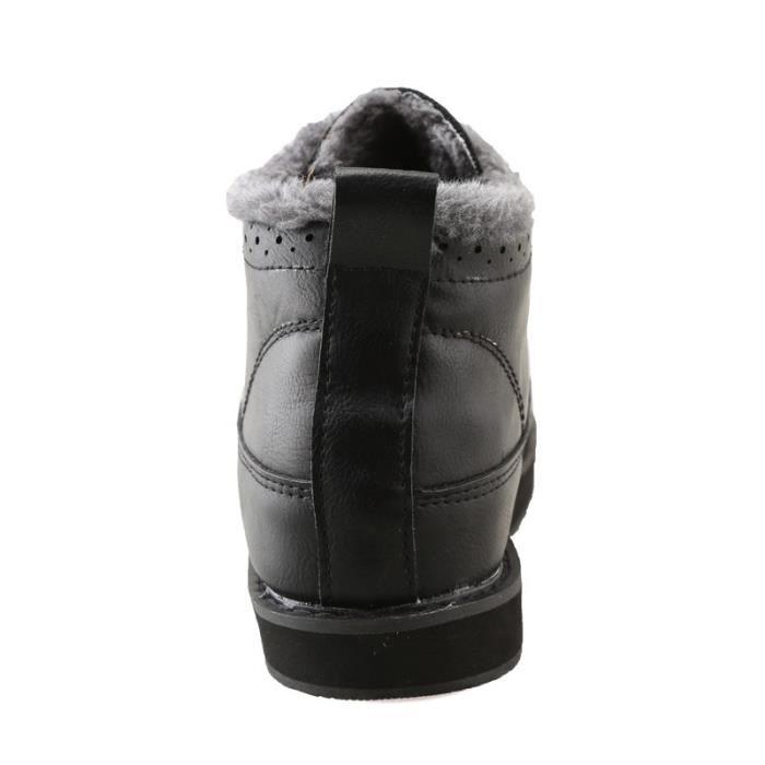 Botte Homme de plate-forme Matin noir taille6.5