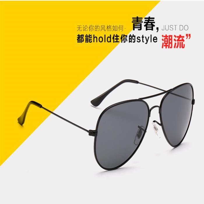 Lunettes de soleil soleil mixte homme et femme polarisées Fashion Grande Cadre sunglasses Métal Cadre Golden/Rose