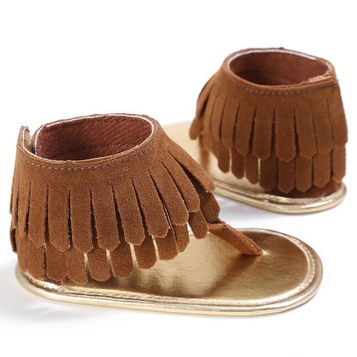 BOTTE Toddler Fille Crèche Chaussures Nouveau-Né Fleur Doux Semelle Anti-slip Bébé Sneakers Sandales@BrownHM E22D1Q0DUU