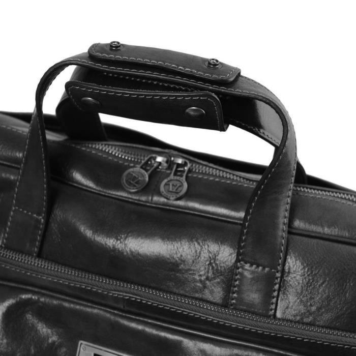 Tuscany Leather - Samoa - Sac à roulettes en cuir - Petit modèle - Marron 3xfJJM