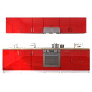 Cuisine equipee rouge achat vente cuisine equipee - Cuisine rouge laque ...