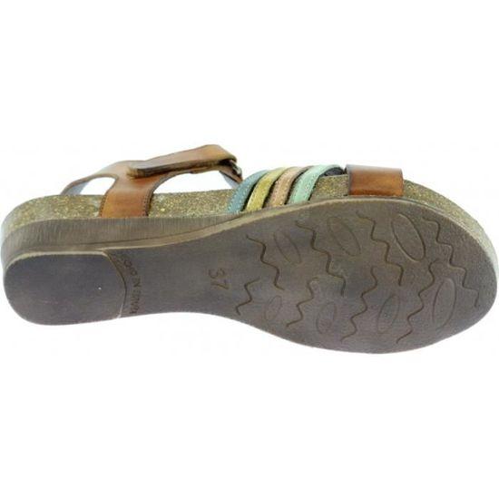 d56c8b0169a8 ANGEL - Sandales semelle bio-anatomique chaussures Femme marque Xapatan  fabriqué en Espagne cuir patiné et tannage naturel beige Beige C-beige -  Achat ...