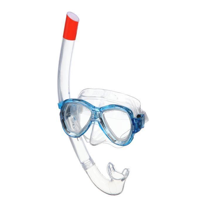 SEAC Masque et Tuba de plongée Ischia Silter - Médium - Bleu
