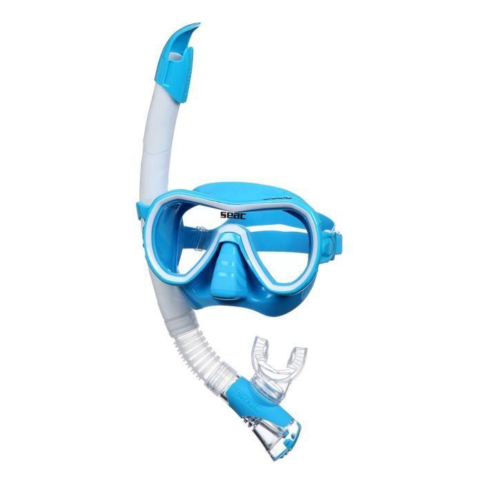 Kit de plongée Giglio - Adulte - Bleu - Masque de plongée et natation + Tuba Fast TechLUNETTES DE PLONGEE - MASQUE DE PLONGEE