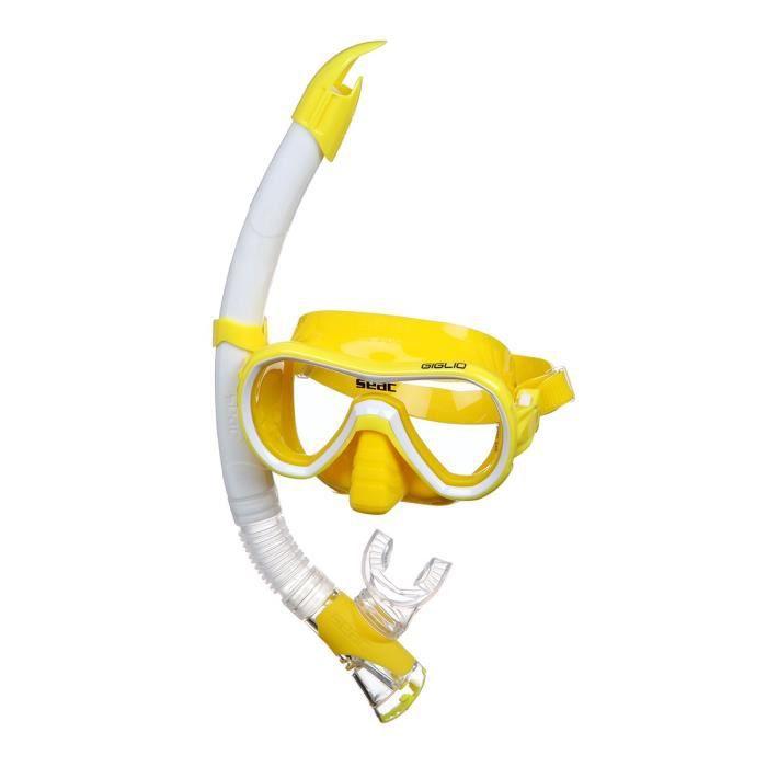 Kit de plongée Giglio - Adulte - Jaune - Masque de plongée et natation + Tuba Fast TechLUNETTES DE PLONGEE - MASQUE DE PLONGEE