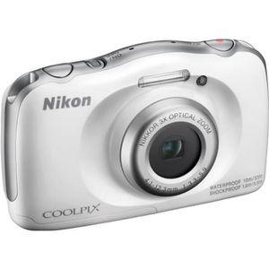 NIKON COOLPIX W100 - Appareil photo numérique compact - Résolution de 13,2Mp - Vidéo Full HD - Etanche jusqu'? 10m - Blanc