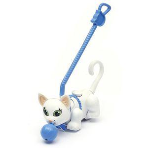 PET PARADE  Pet Chat + Pelote + Laisse (Blanc ? Poils Courts)