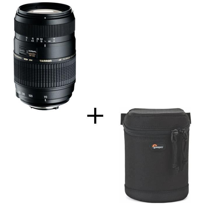 TAMRON AF 70-300 mm/f4-5.6 DiII LD Macro 1/2 CANON - Pour appareil photo numérique Reflex + Étui objectif