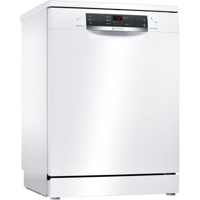 BOSCH SMS45KW00E Lave vaisselle pose libre - 13 couverts - Silencieux 44 dB - A+ - Larg 60 cm - Mote