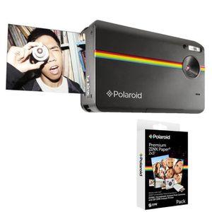 Pack POLAROID Z2300 noir Appareil photo instantané compact + POLAROID Recharge papier pour Z2300 (x20p)