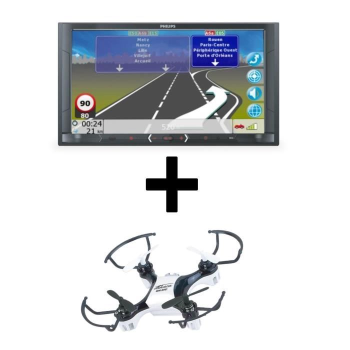 Autoradio Multimedia GPS - Ecran 6,8'' + TAKARA Mini Drone