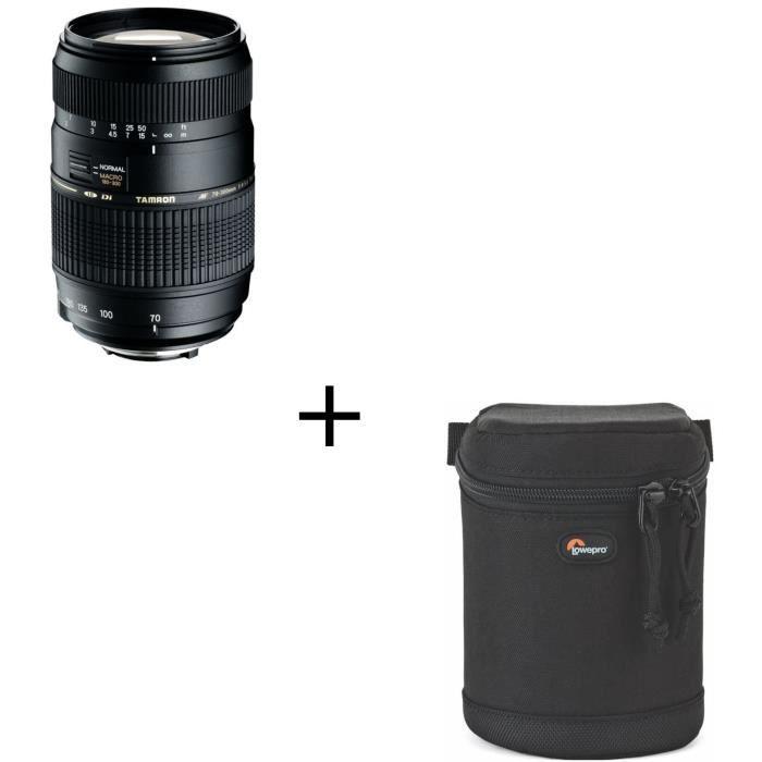 TAMRON AF 70-300mm /f4-5.6 Di LD Macro 1/2 NIKON - Pour appareil photo numérique Reflex + Étui noir