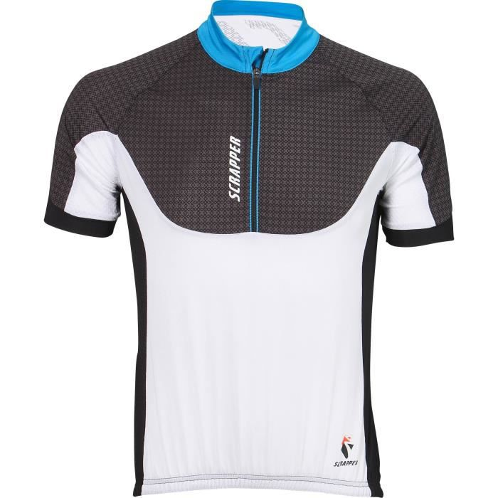 SCRAPPER Maillot cycliste - Homme - Blanc