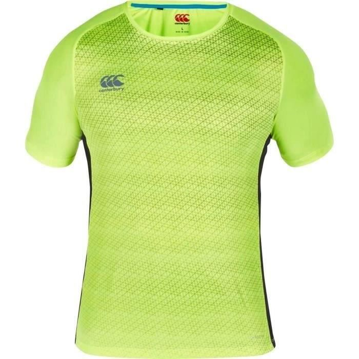 CANTERBURY T-shirt Rugby - Jaune fluo