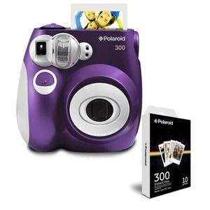Pack POLAROID PIC300 Violet Appareil photo instantané compact + POLAROID POLPIF300 10 feuilles pour appareil photo instantané